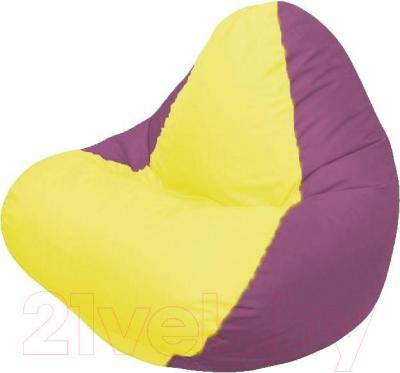 Бескаркасное кресло Flagman Relax Г4.1-028 (желтый/бордовый)