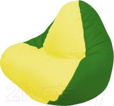 Бескаркасное кресло Flagman Relax Г4.1-030 (желтый/зеленый)