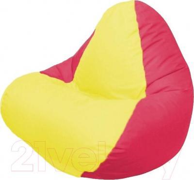 Бескаркасное кресло Flagman Relax Г4.1-032 (желтый/красный)
