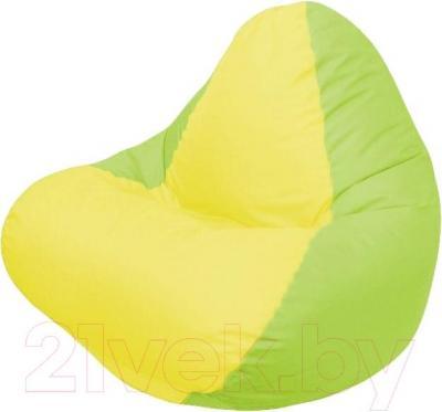 Бескаркасное кресло Flagman Relax Г4.1-036 (желтый/салатовый)