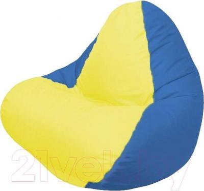 Бескаркасное кресло Flagman Relax Г4.1-038 (желтый/синий)