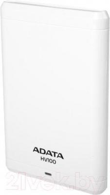Внешний жесткий диск A-data HV100 1TB / AHV100-1TU3-CWH (белый)