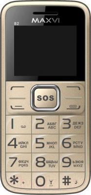 Мобильный телефон Maxvi B2 (золотой)