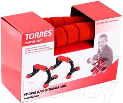 Упоры для отжимания Torres Push-Up Bars PL10014 - упаковка