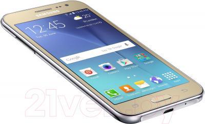 Смартфон Samsung Galaxy J2 / J200H/DS (золотой)