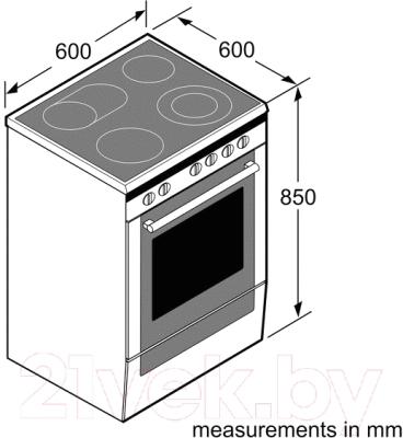 Плита электрическая Bosch HCA644120R