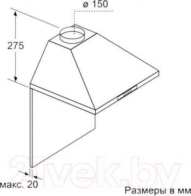 Вытяжка купольная Bosch DWW06W650
