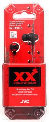 Наушники JVC HA-FX101-REF - в упаковке