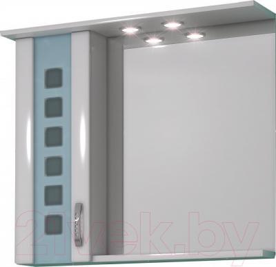 Шкаф с зеркалом для ванной Sfarzo Brina 80