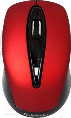 Мышь Defender Athena 225 Nano (красный) - вид сверху