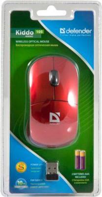Мышь Defender Kiddo 105 (красный) - упаковка