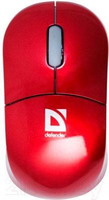 Мышь Defender Kiddo 105 (красный) - вид сверху