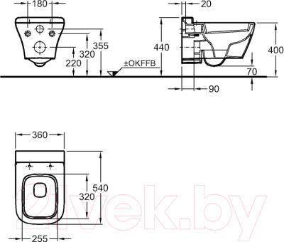 Унитаз подвесной Keramag MyDay 201460-000 - схема