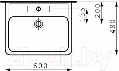 Умывальник Laufen Pro 60x48 (8189520001041)