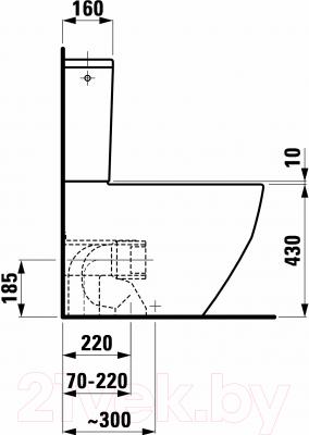 Унитаз напольный Laufen Pro (8259520000001)