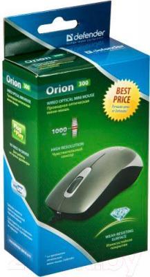Мышь Defender Orion 300 (серый) - упаковка