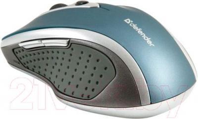 Мышь Defender Safari MM-675 Nano (голубой) - вид сбоку