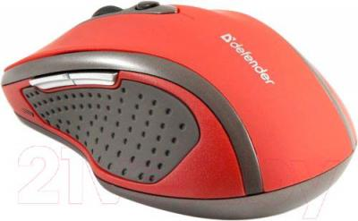 Мышь Defender Safari MM-675 Nano (красный) - вид сбоку
