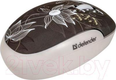 Мышь Defender To-GO MS-565 Nano Rock Bloom / 52569 - вид сбоку