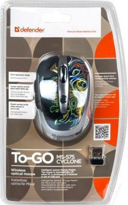 Мышь Defender To-GO MS-575 Nano Cyclone (52578) - упаковка