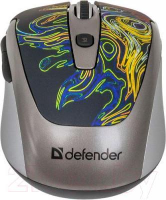 Мышь Defender To-GO MS-575 Nano Cyclone (52578) - вид сзади