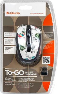 Мышь Defender To-GO MS-575 Nano Weekend (52574) - упаковка