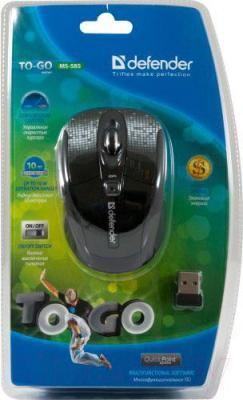 Мышь Defender To-GO MS-585 Nano Disco (черный) - упаковка