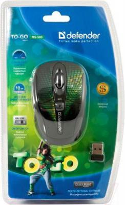 Мышь Defender To-GO MS-585 Nano Disco (зеленый) - упаковка