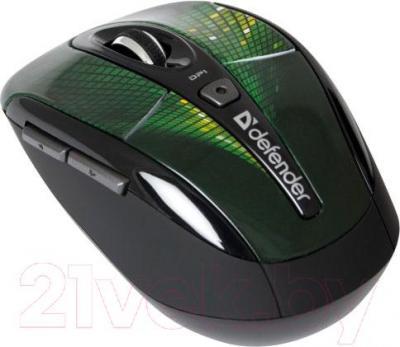 Мышь Defender To-GO MS-585 Nano Disco (зеленый) - вид сбоку