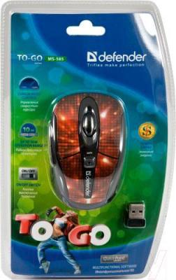 Мышь Defender To-GO MS-585 Nano Disco (красный) - упаковка