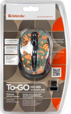 Мышь Defender To-GO MS-585 Nano Wonderland (52584) - упаковка