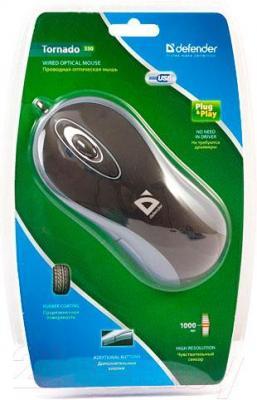 Мышь Defender Tornado 350 (синий) - упаковка