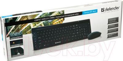 Клавиатура+мышь Defender Domino 825 Nano (черный) - упаковка