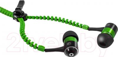Наушники-гарнитура Defender ZigZag (зеленый) - общий вид