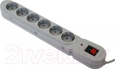 Сетевой фильтр Defender Torrent 103 (3м, 6 розеток, серый)
