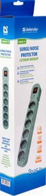Сетевой фильтр Defender Torrent 103 (3м, 6 розеток, серый) - упаковка