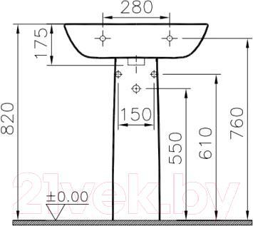 Умывальник VitrA S20 60x46 (5503B003-0001)