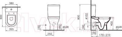 Унитаз напольный VitrA S50 (9798B003-7200)
