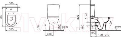 Унитаз напольный VitrA S50 (9798B003-7201)