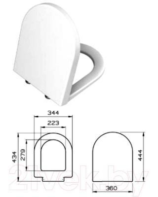 Унитаз подвесной с инсталляцией VitrA S50 (9003B003-7200) - сиденье с микролифтом