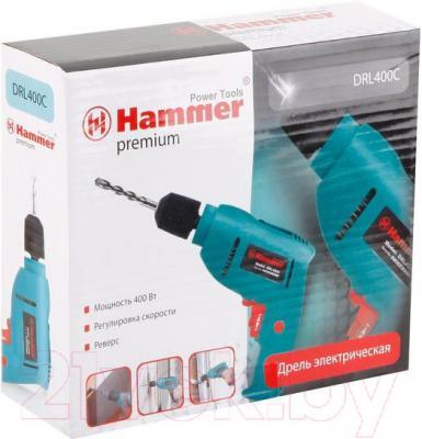 Дрель Hammer DRL400C Premium - упаковка
