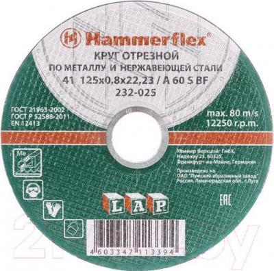 Отрезной круг Hammer Flex KTS 232-016