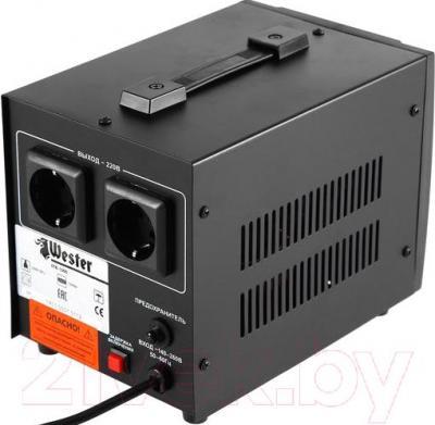 Стабилизатор напряжения Wester STB-1000 - две выходные розетки