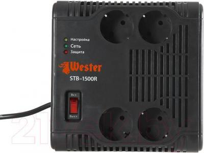 Стабилизатор напряжения Wester STB-1500R - четыре выходные розетки