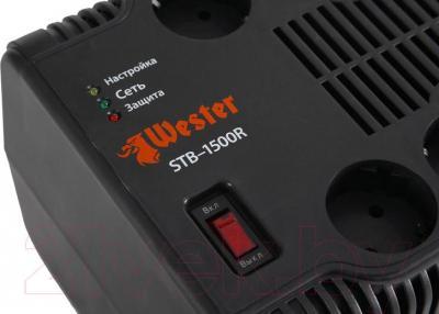 Стабилизатор напряжения Wester STB-1500R - индикация