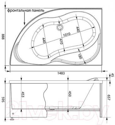 Ванна акриловая Aquanet Graciosa 150x90 L