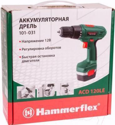 Аккумуляторная дрель-шуруповерт Hammer Flex ACD120LE