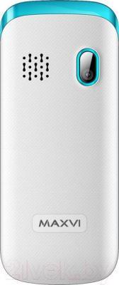 Мобильный телефон Maxvi C6 (бело-синий)