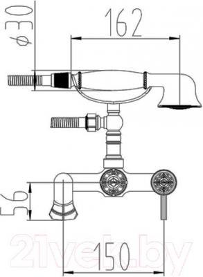 Смеситель ZorG Antic AZR 700 W-6-12 BR