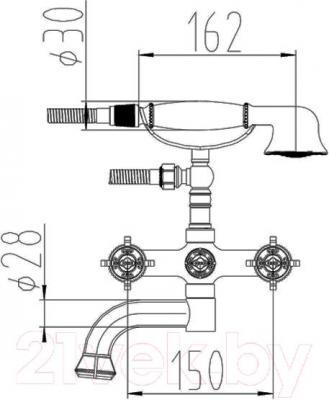 Смеситель ZorG Antic AZR 608 W-1-12 BR